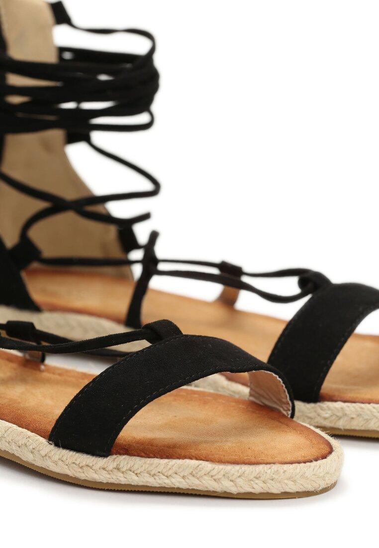 Czarne Sandały Peony