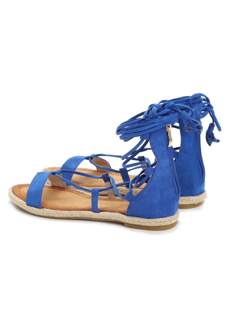 Niebieskie Sandały Peony