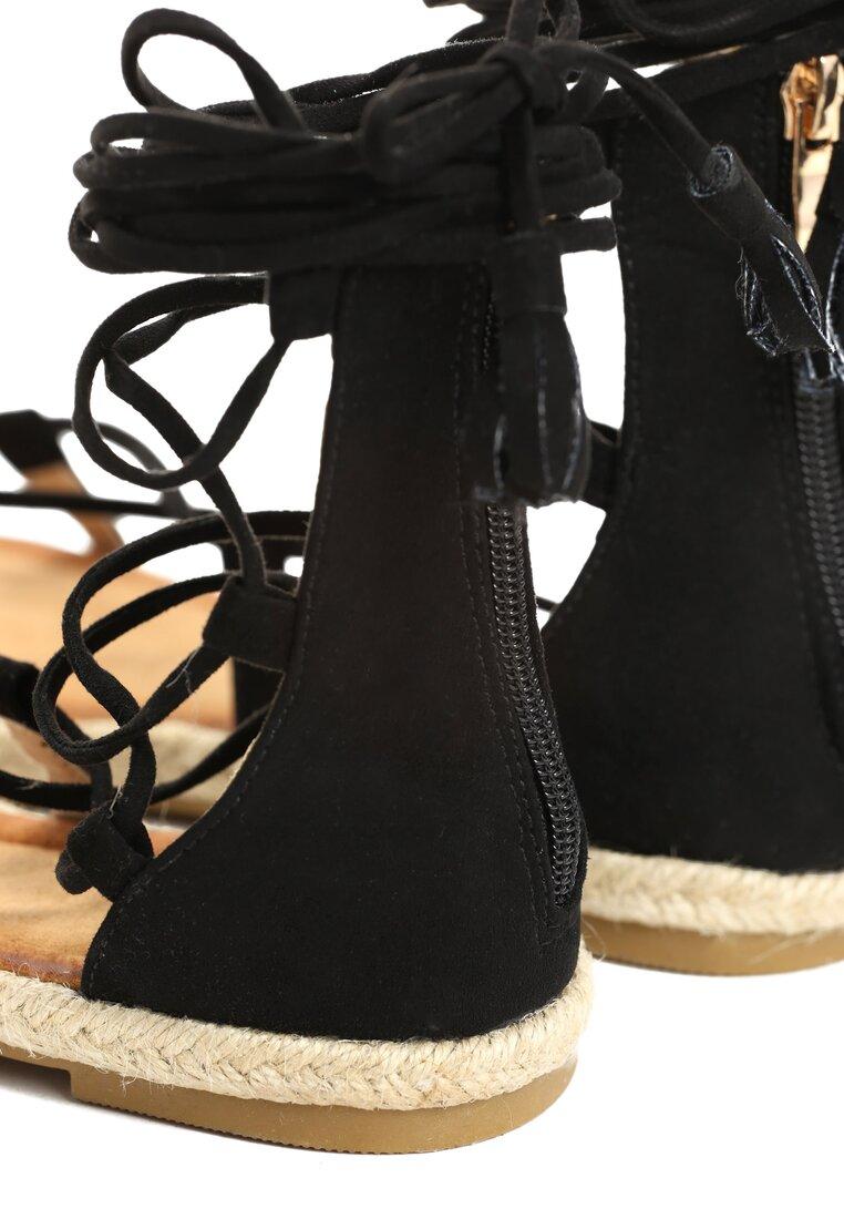 Czarne Sandały Castiel