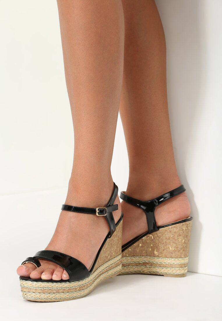 Czarne Sandały Shutter