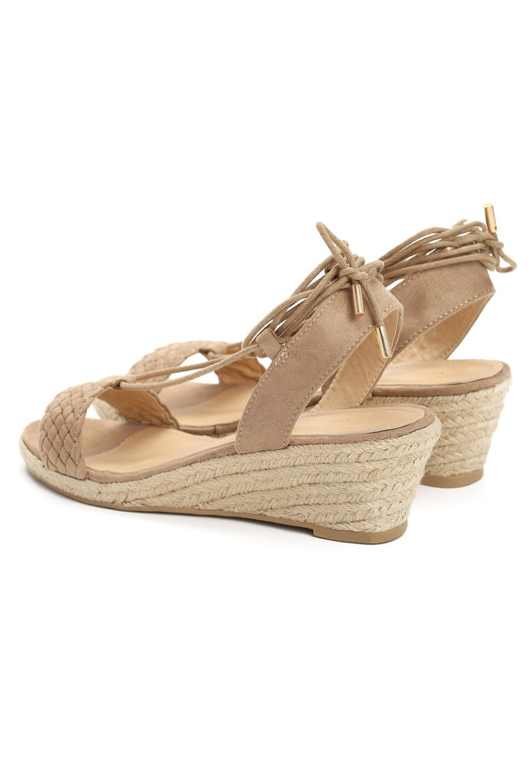Beżowe Sandały Leticia