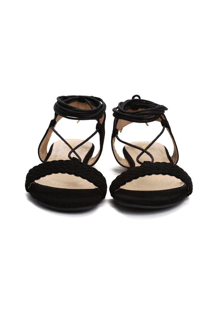 Czarne Sandały Tuva