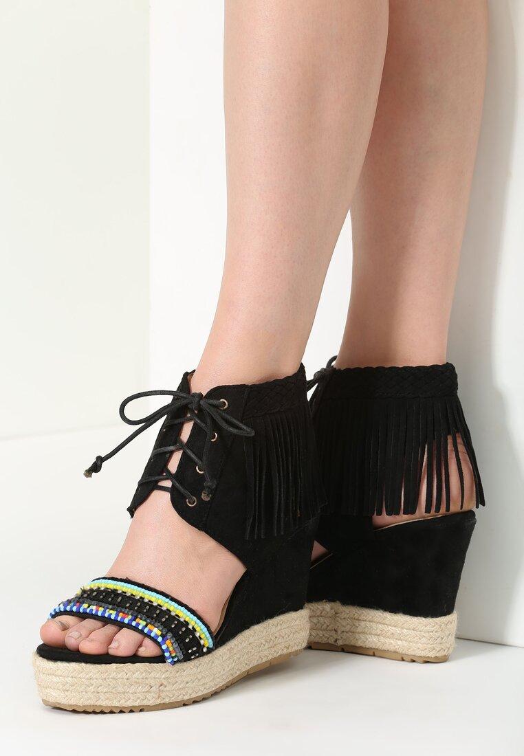 Czarne Sandały Creatio