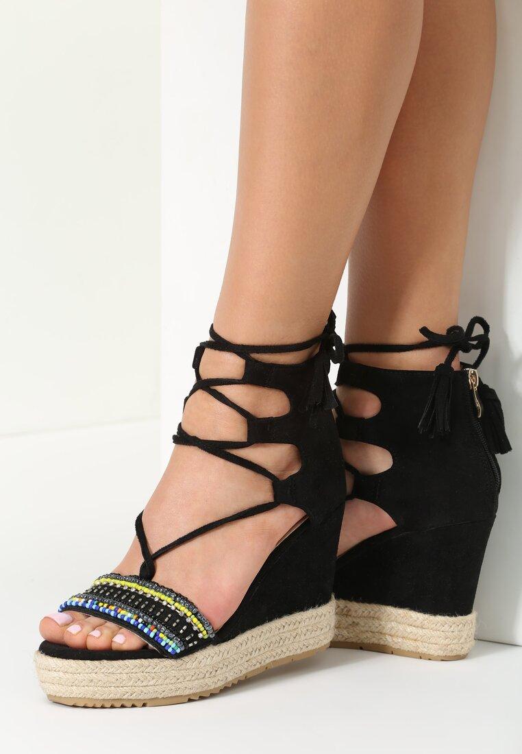 Czarne Sandały Pilar