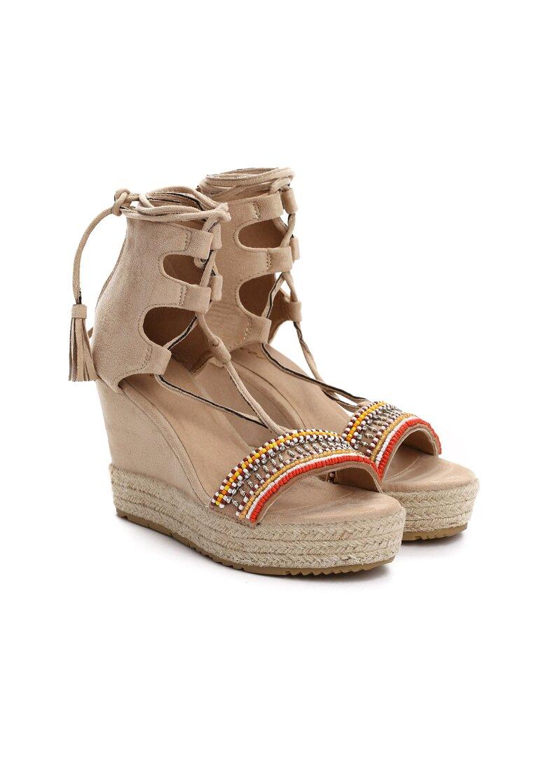 Beżowe Sandały Pilar