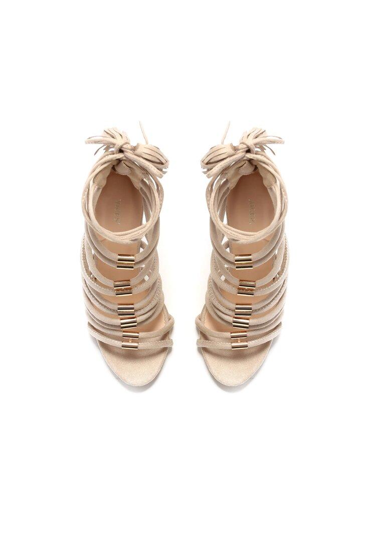 Beżowe Sandały Karen