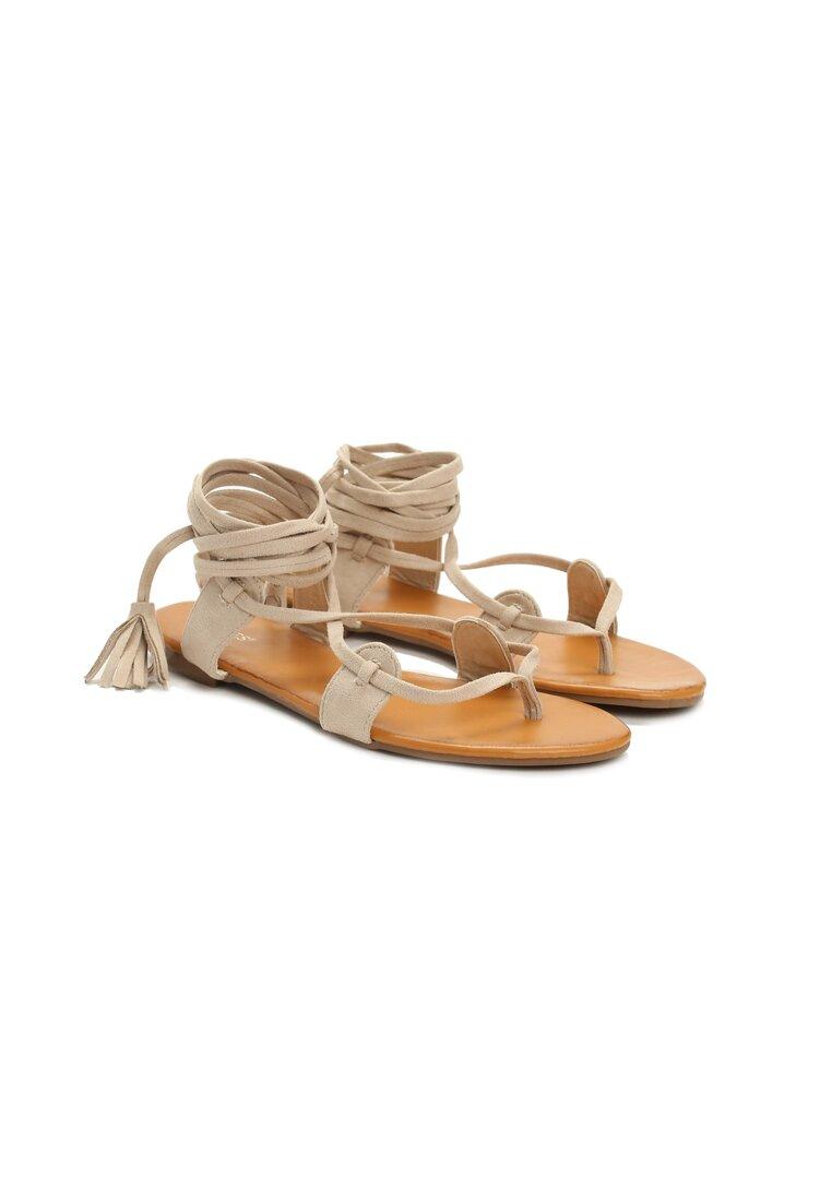 Beżowe Sandały White Maria