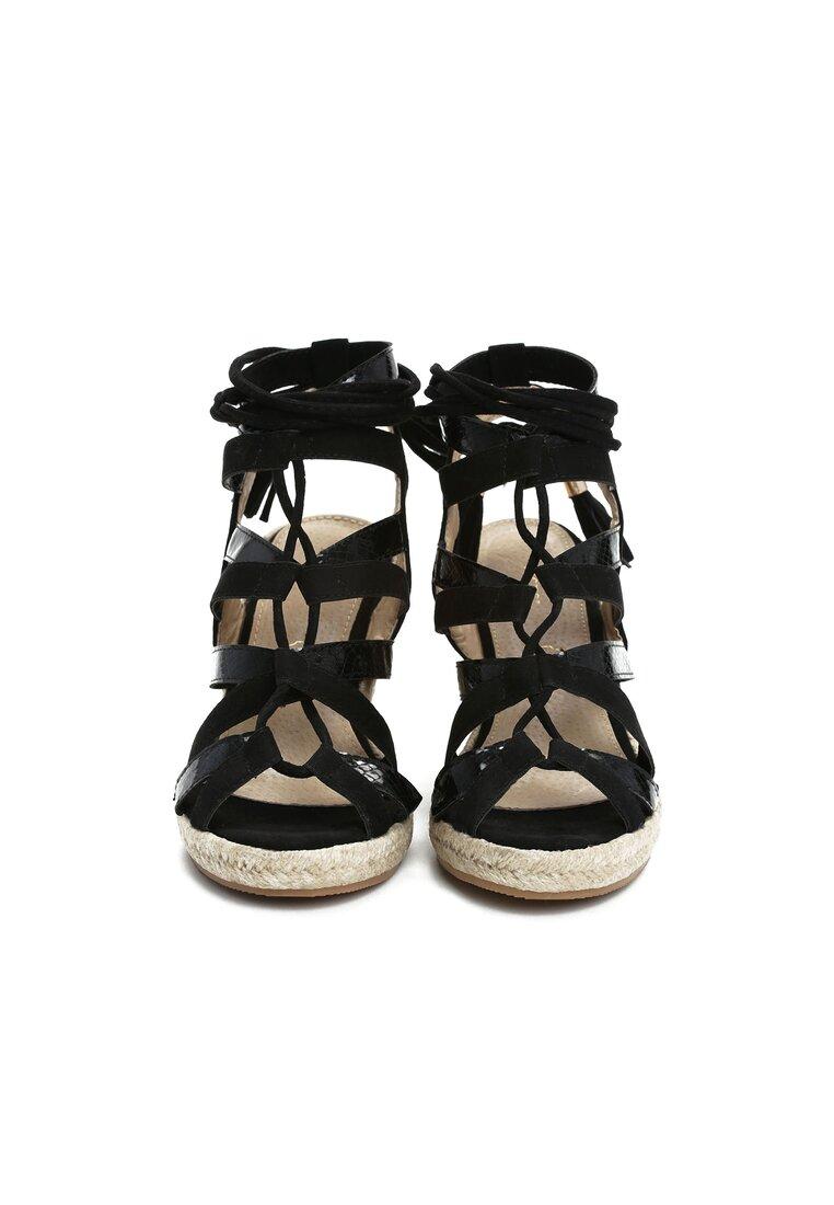 Czarne Sandały Cox