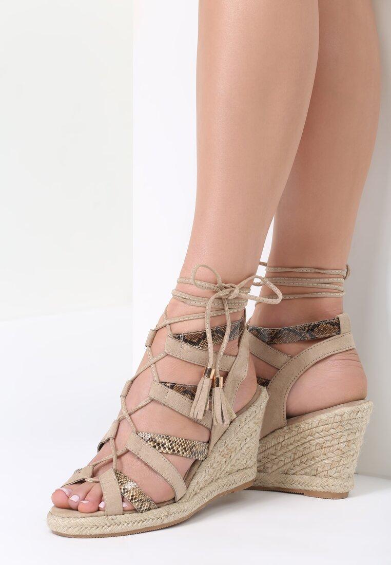 Beżowe Sandały Cox