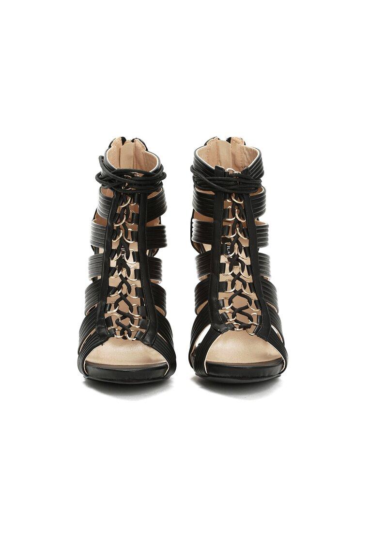 Czarne Sandały Bea