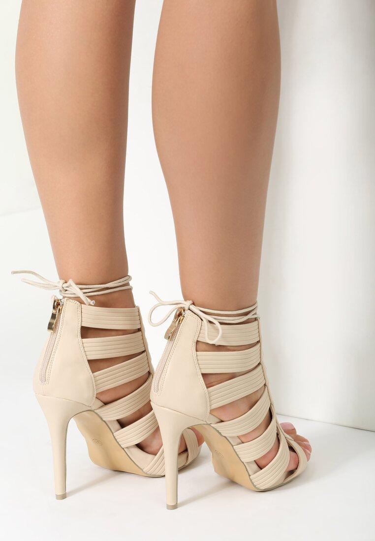 Beżowe Sandały Bea