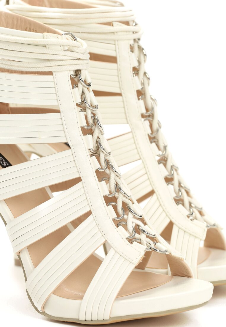 Białe Sandały Canola