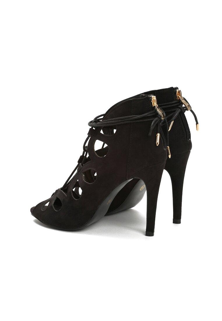 Czarne Sandały Dario
