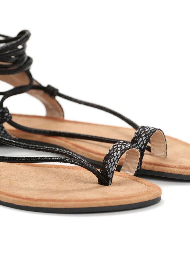 Czarne Sandały Rowena