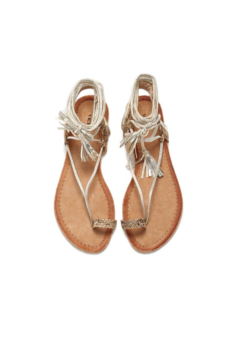 Złote Sandały Freesia