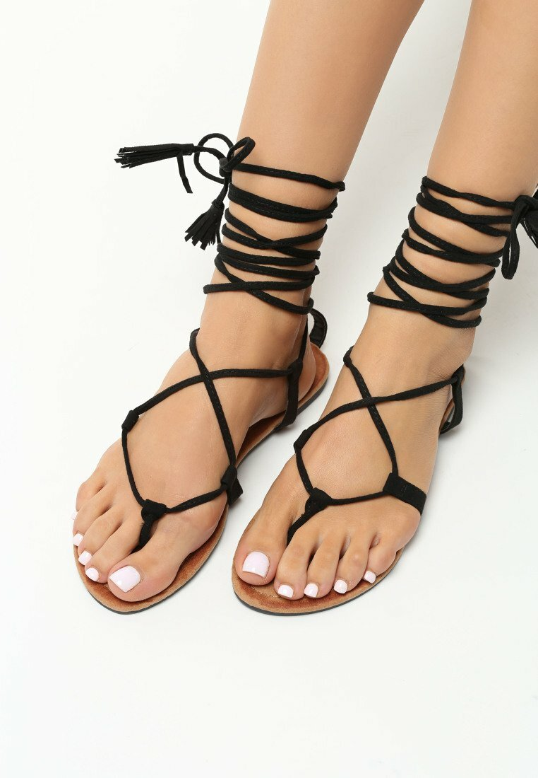 Czarne Sandały Forget Me Not