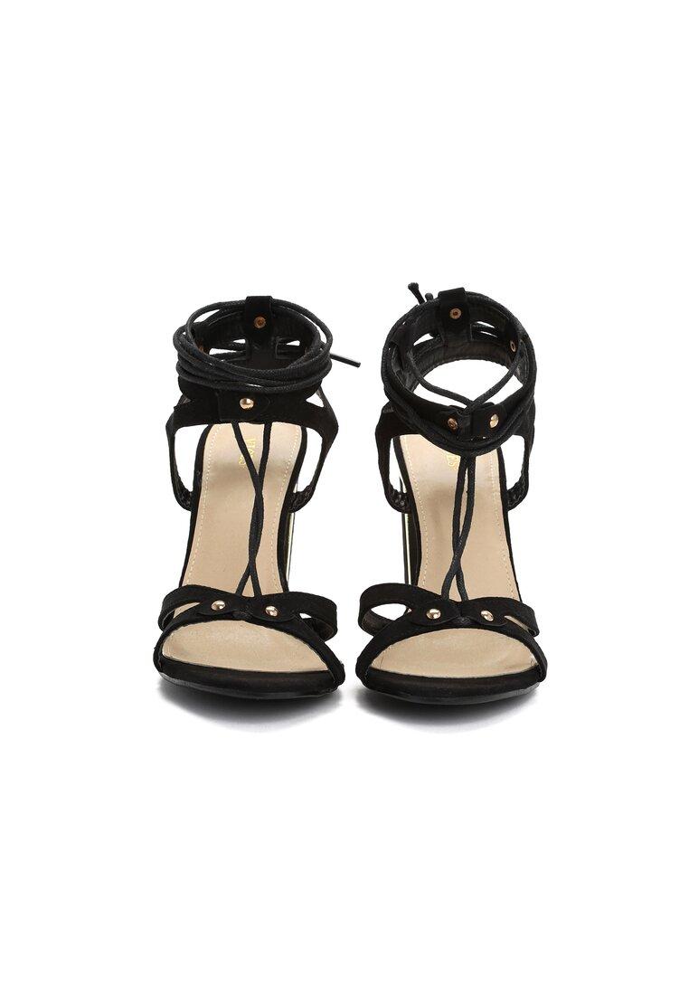 Czarne Sandały Tiana