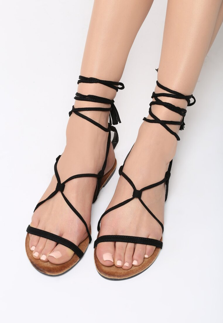 Czarne Sandały Brandi
