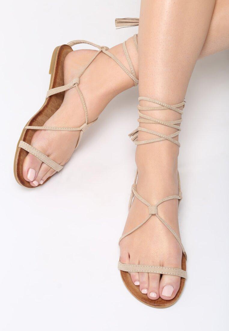 Beżowe Sandały Brandi
