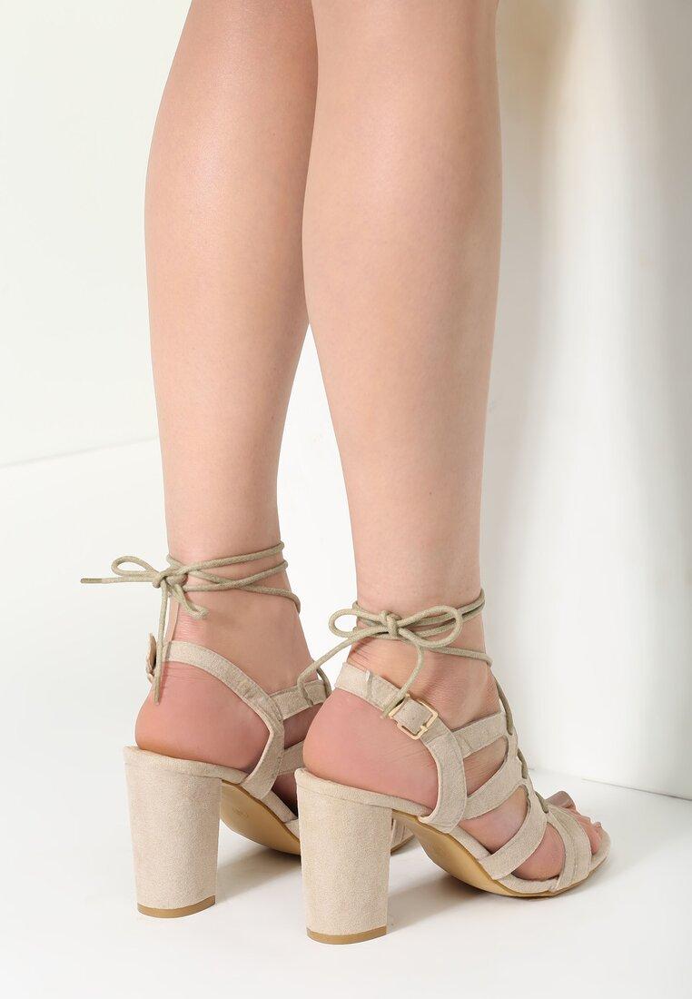 Beżowe Sandały Samantail