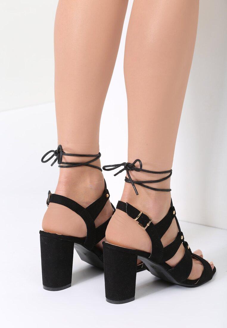Czarne Sandały Foxy