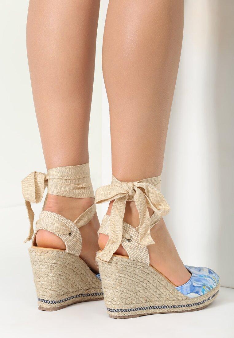 Niebieskie Sandały Plosa