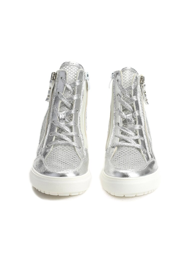 Srebrne Sneakersy Ellif