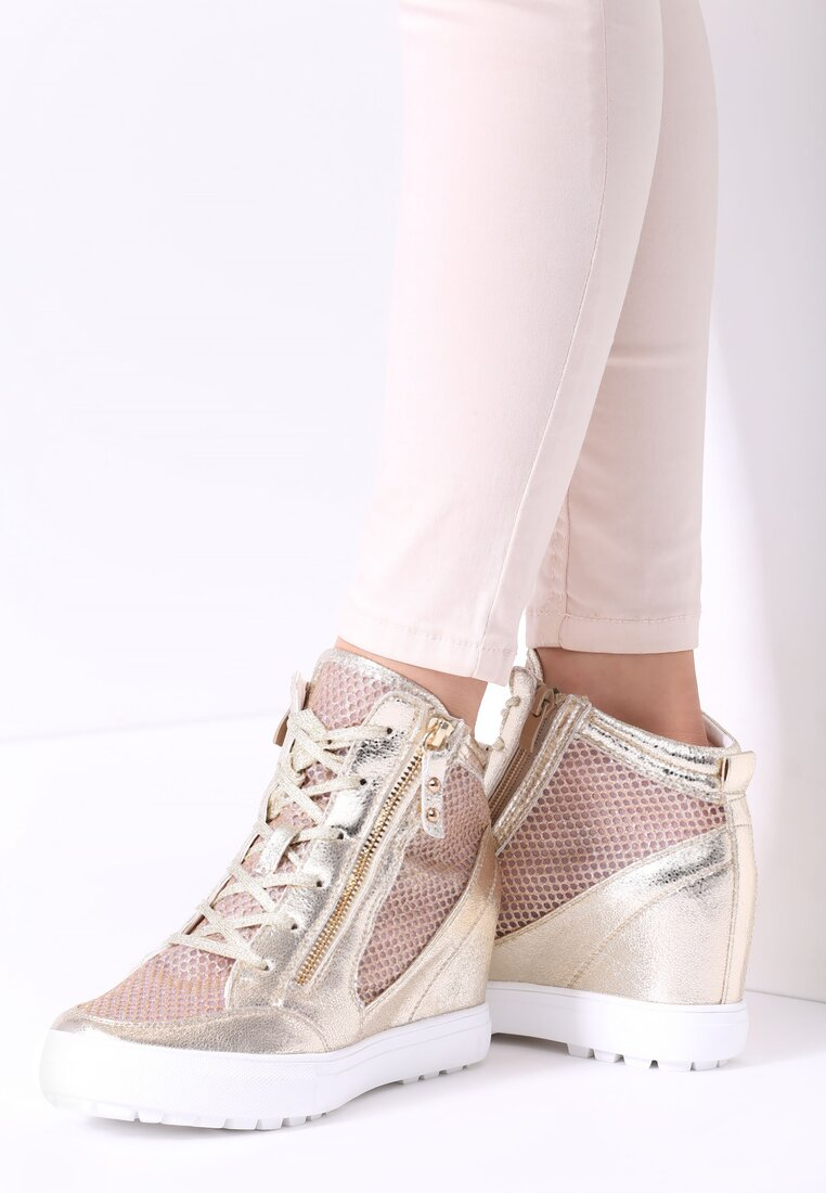 Złote Sneakersy Ellif