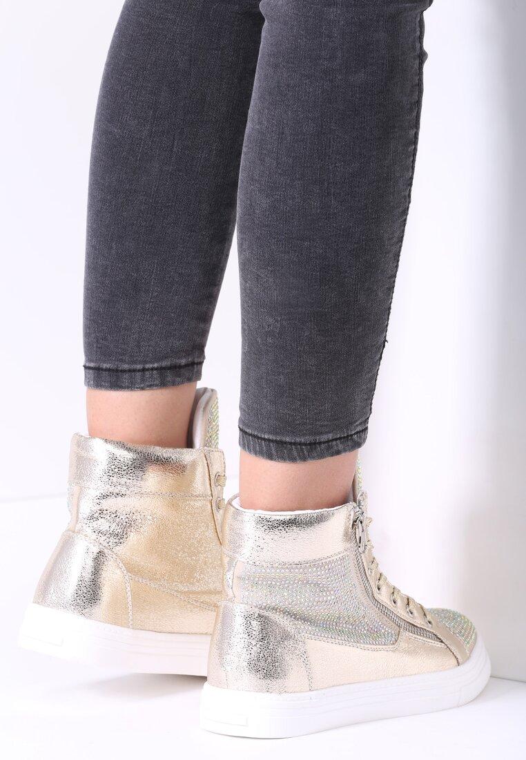 Złote Sneakersy Vincente