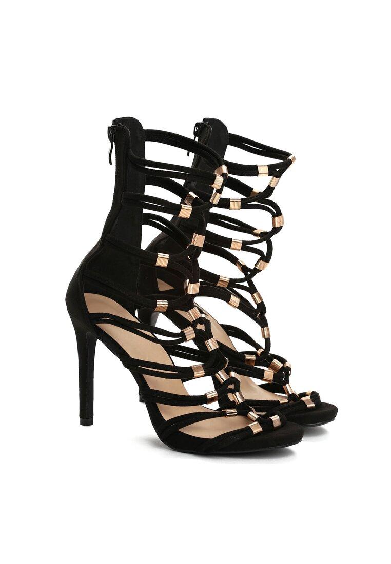 Czarne Sandały Coruna