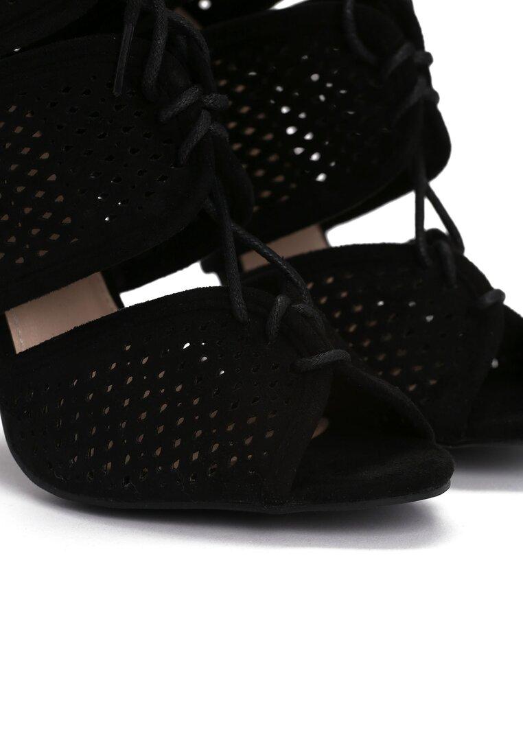 Czarne Sandały Harper