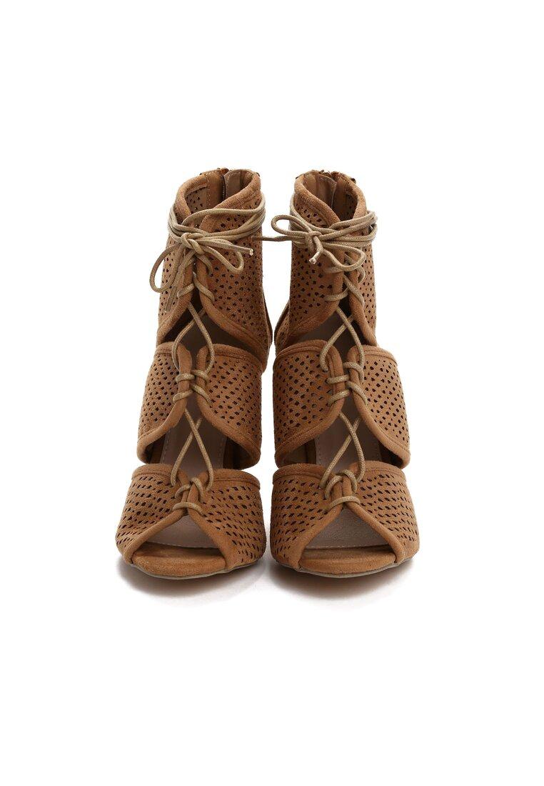 Ciemnobeżowe Sandały Harper