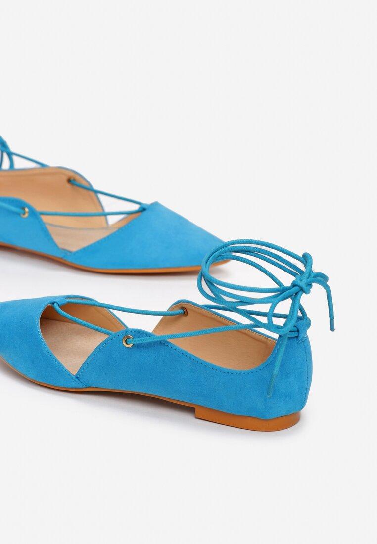 Niebieskie Balerinki Floriano