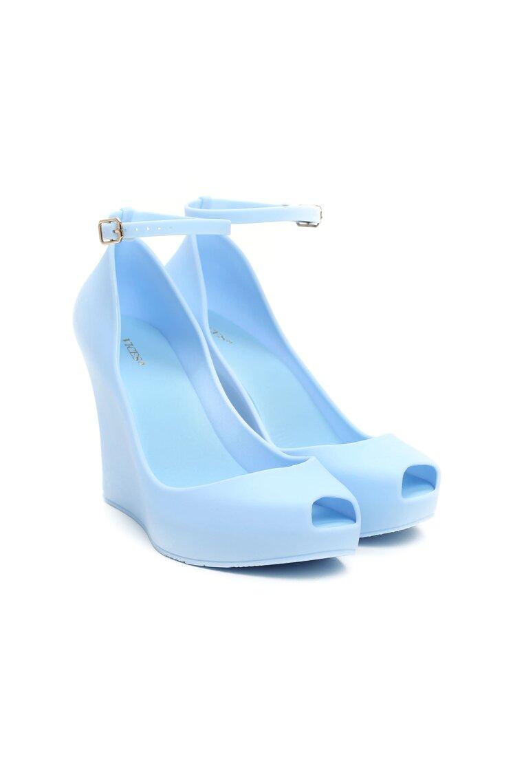 Niebieskie Koturny Nina