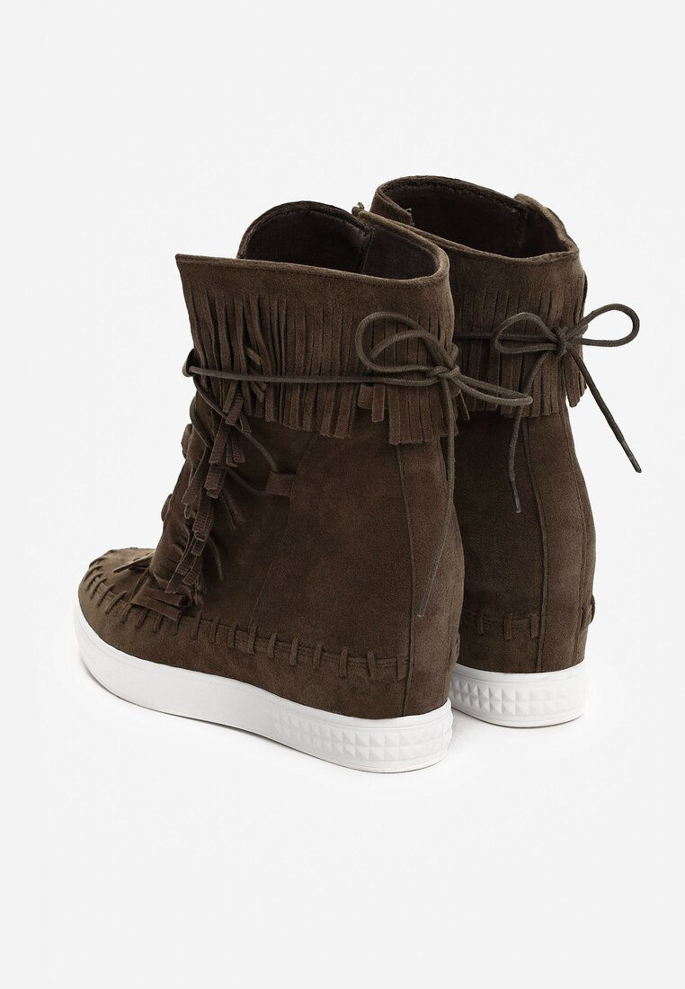 Khaki Sneakersy Capital Letters