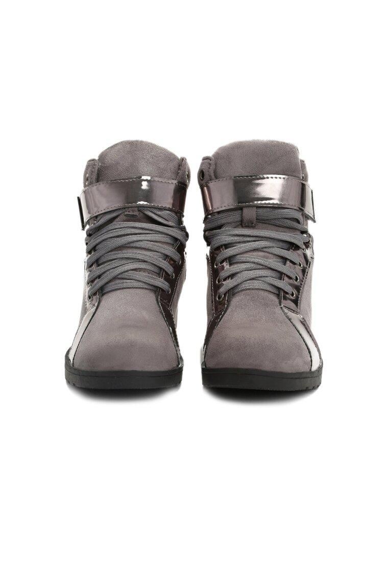 Szare Sneakersy Stit