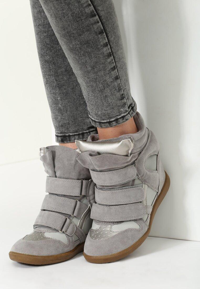 Szare Sneakersy Dopio