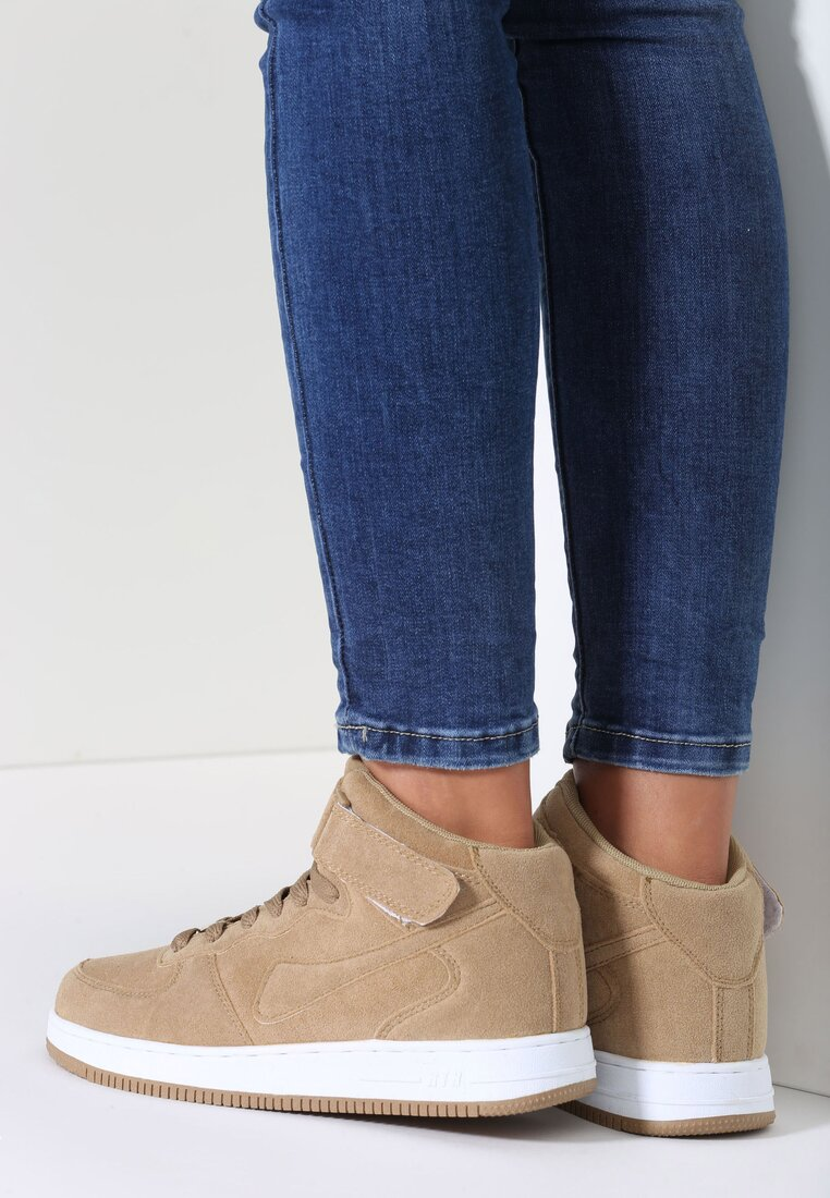 Beżowe Buty Sportowe Marcie
