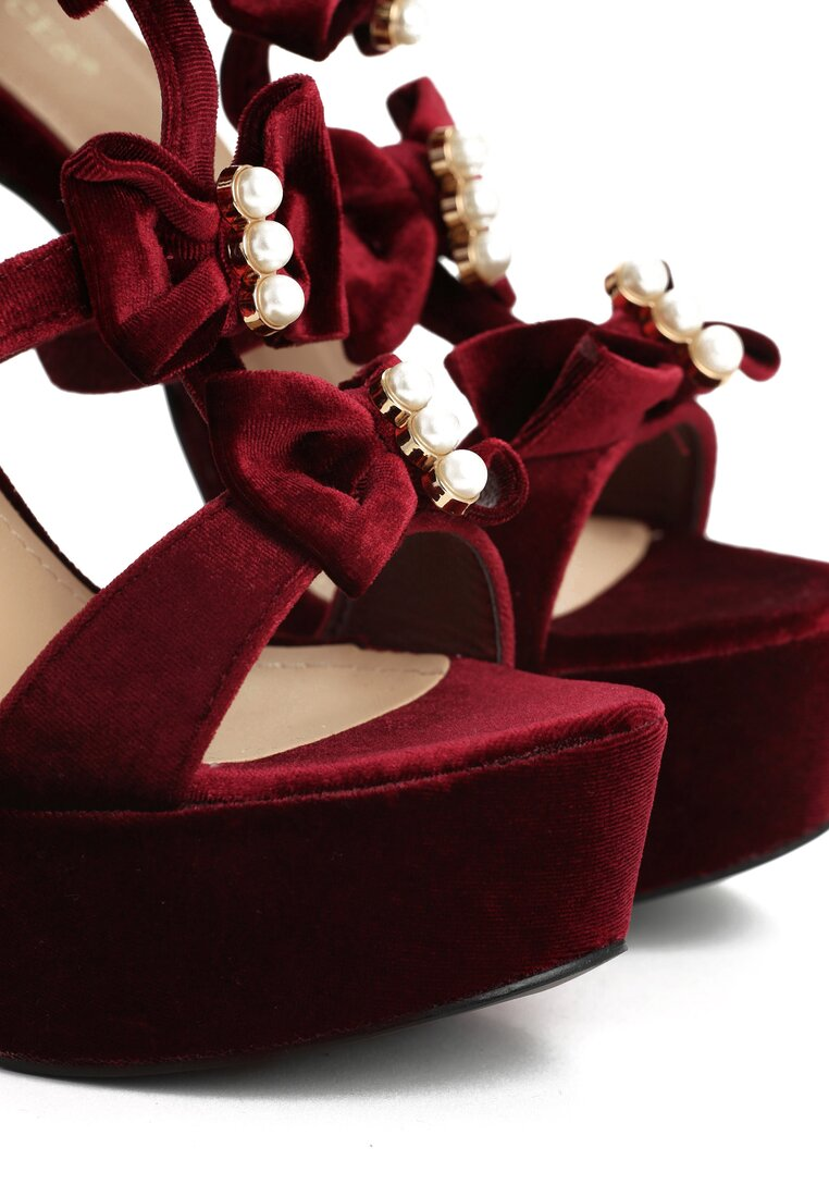 Bordowe Sandały Bing Bang