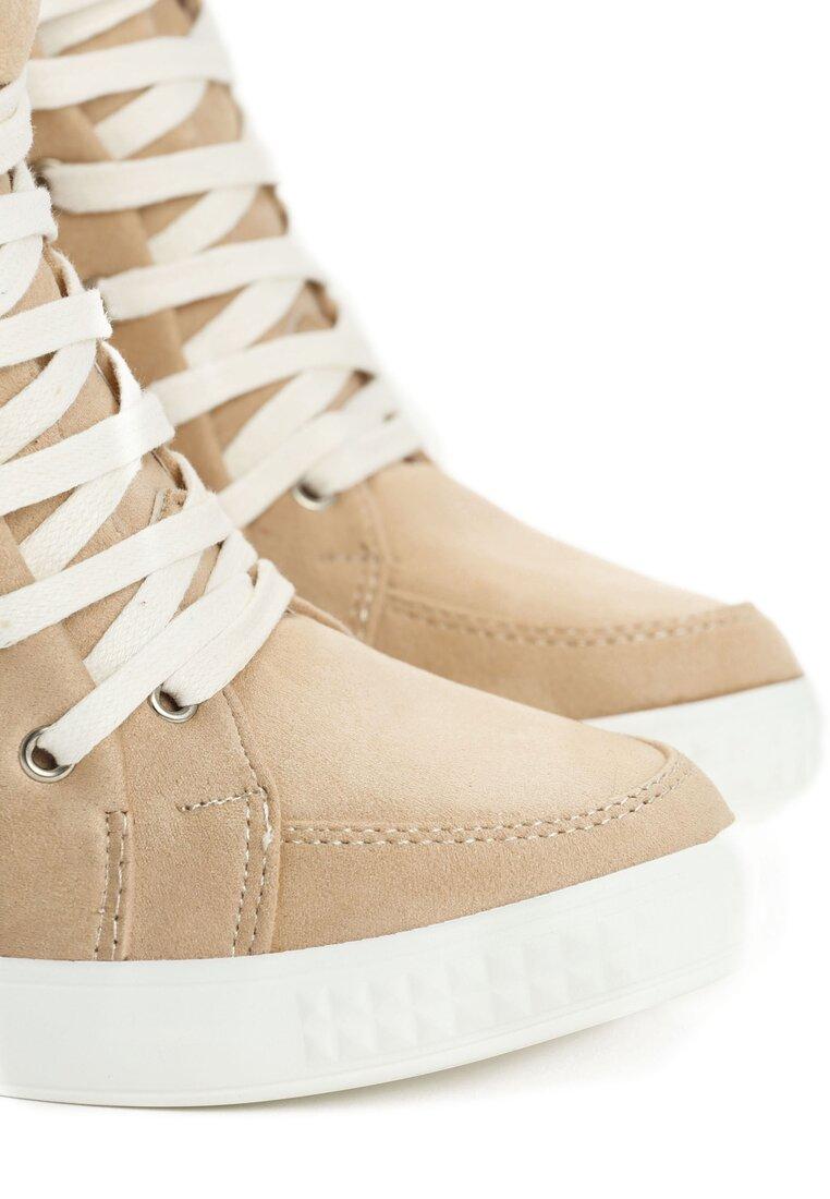 Beżowe Sneakersy Zuzu