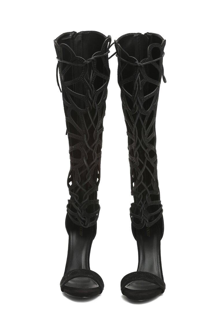 Czarne Sandały Marilyn