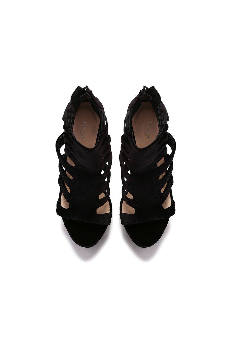 Czarne Sandały Glam