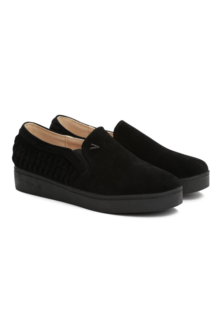 Czarne Slip On Floa