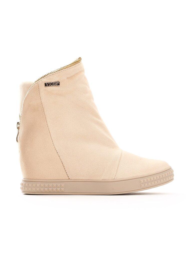 Beżowe Sneakersy Curtis