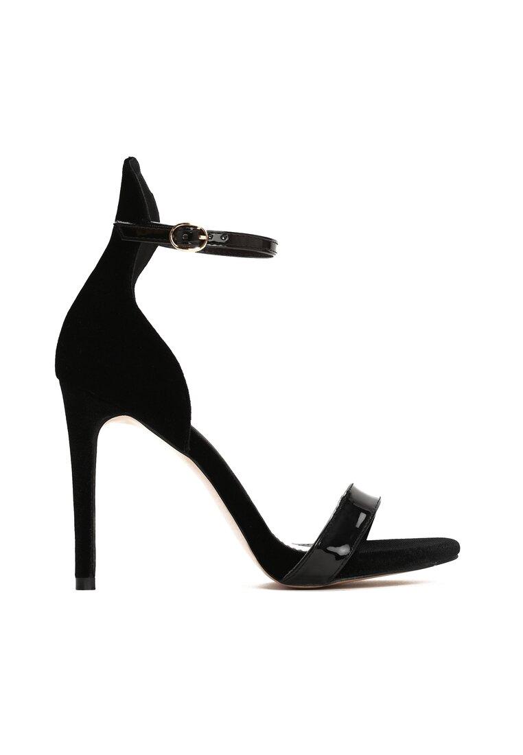 Czarne Sandały Alubi