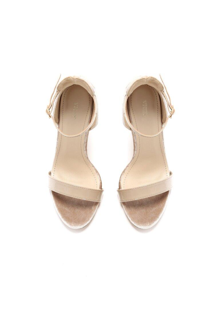 Beżowe Sandały Alubi