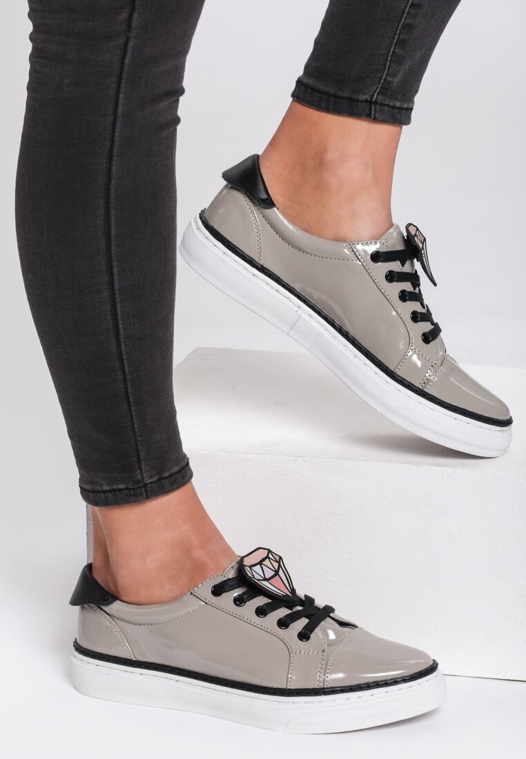 Szare Buty Sportowe Grey Think