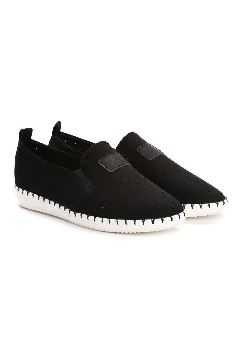 Czarne Slip On Delliance