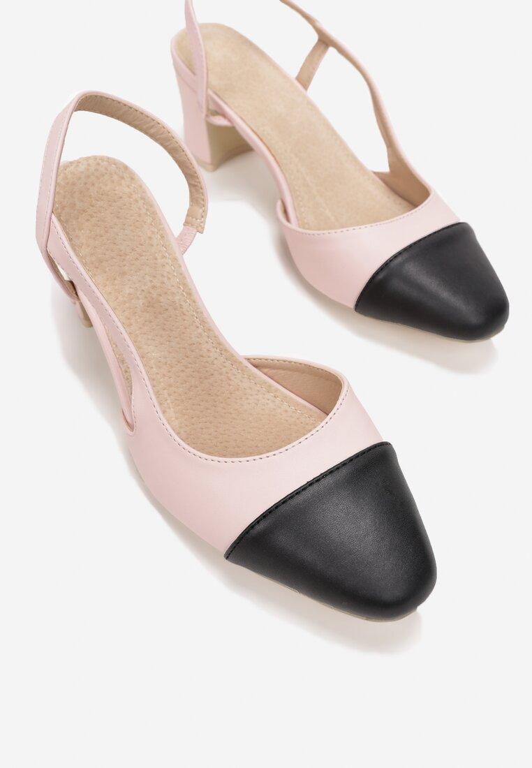 Różowe Sandały Selaut