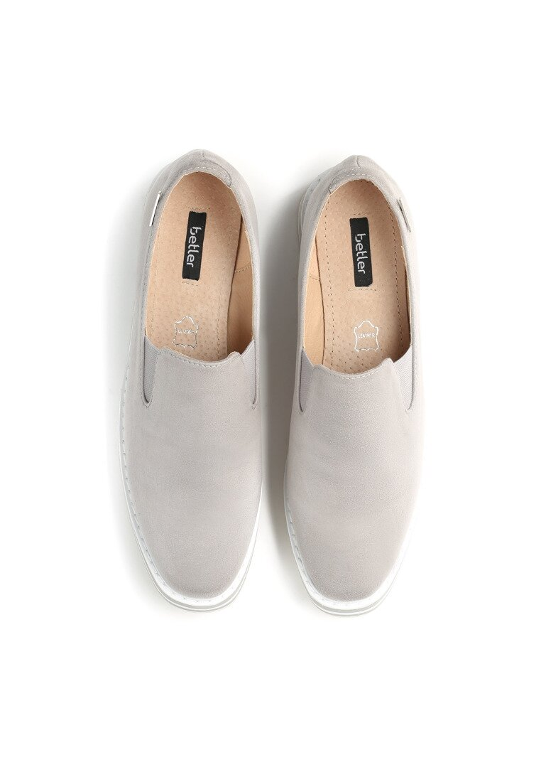 Szare Slip On Cat Lover